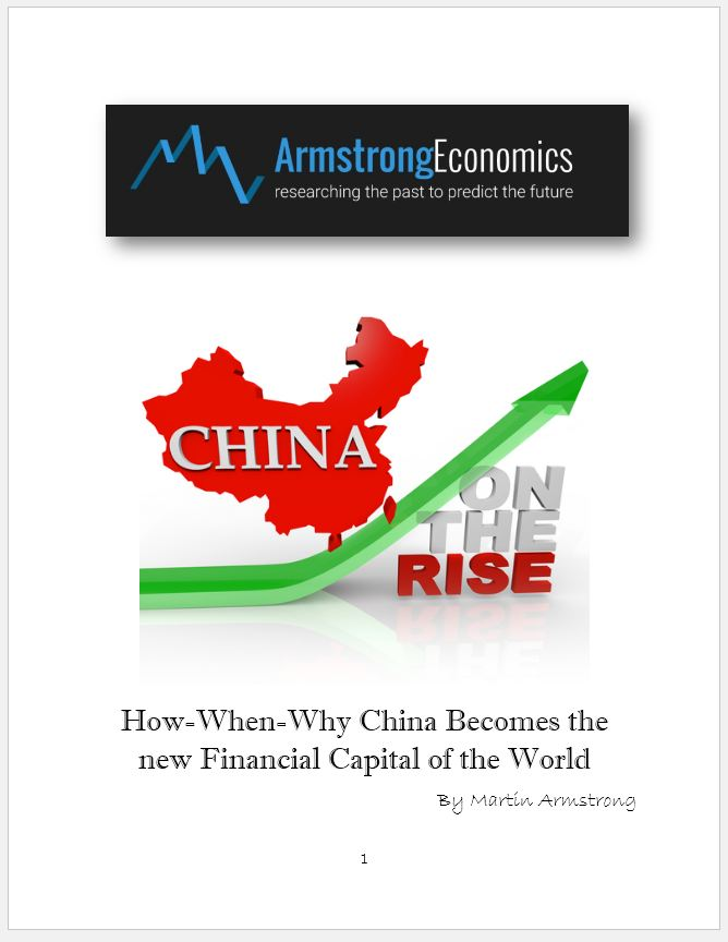 China on the Rise – How-When-Why China Becomes the new Financial Capital of the World by Martin Armstrong | Armstrong Economics