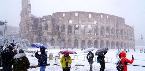 Winter Arrived Snowing in Rome – Climatic Change events result Historically in an increase in Violence   Armstrong Economics