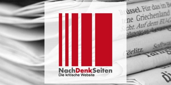 """Notwendiger Nachtrag """"Wir entschuldigen uns! Wir haben's kapiert! Wir sind lernfähig!"""". – www.NachDenkSeiten.de"""