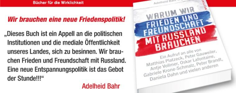 """""""Warum wir Frieden und Freundschaft mit Russland brauchen""""   KenFM.de"""