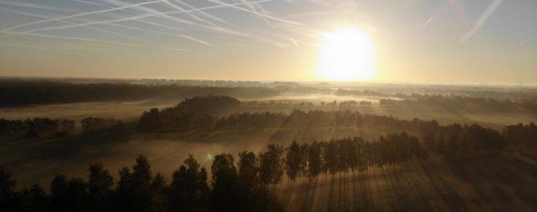 Drone opname van chemtrails op vrijdag 5 oktober 2018