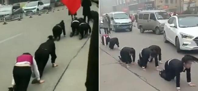 workers8217-paradise-employees-in-china-crawl-through-streets-after-missing-sales-targets