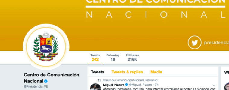 twitter-suspends-venezuela-govt-accounts…-and-verifies-opposition-leader-guaido