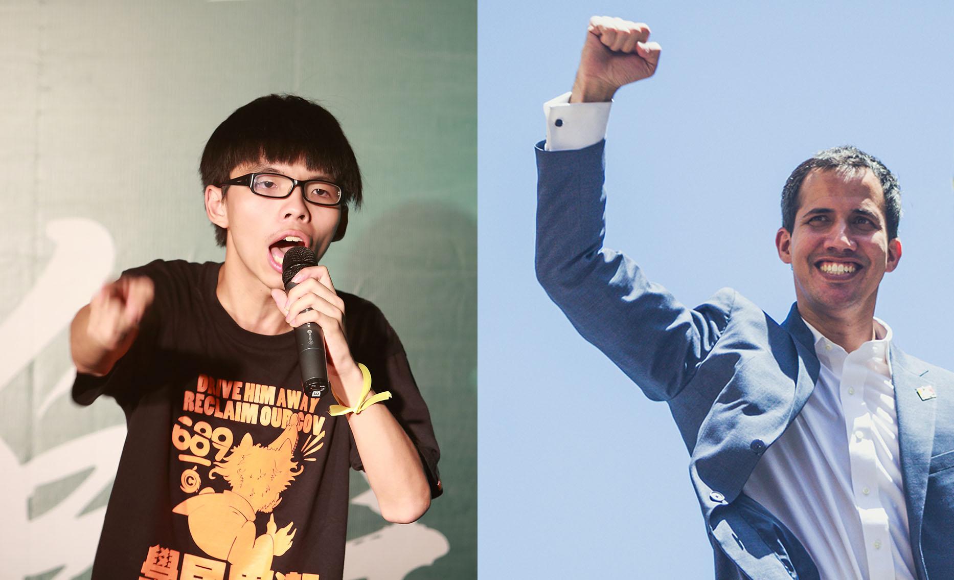 """Image result for Joshua Wong, Juan Guaido – eine neue Generation pro-westlicher """"Heiliger"""""""