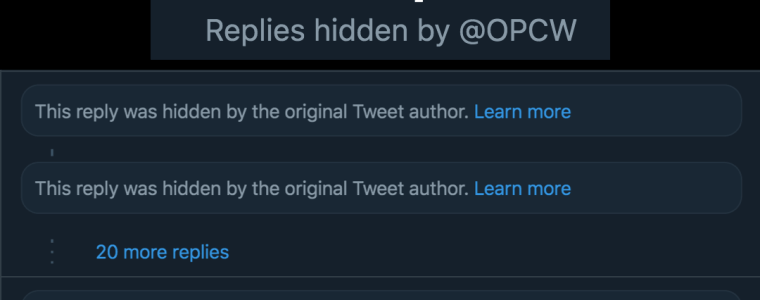 "scandal-ridden-opcw-now-using-twitter's-""hide-replies""-function"