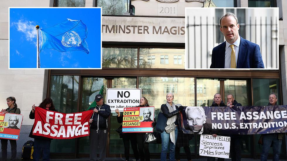 british-foreign-secretary-accused-of-hypocrisy-for-praising-un-'values'-despite-uk-treatment-of-assange