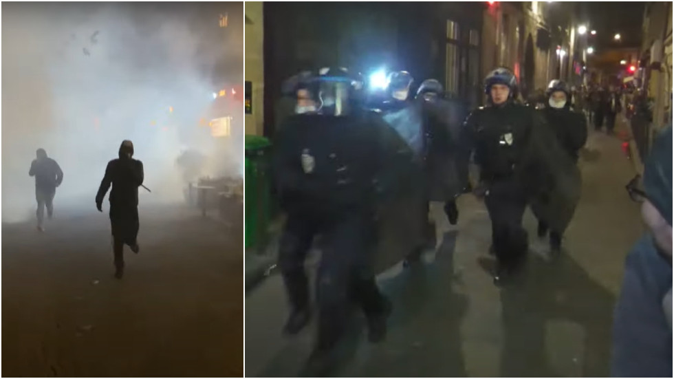 paris-riot-cops-disperse-protesters-with-tear-gas-as-harsh-2nd-lockdown-takes-effect-in-france-(videos)