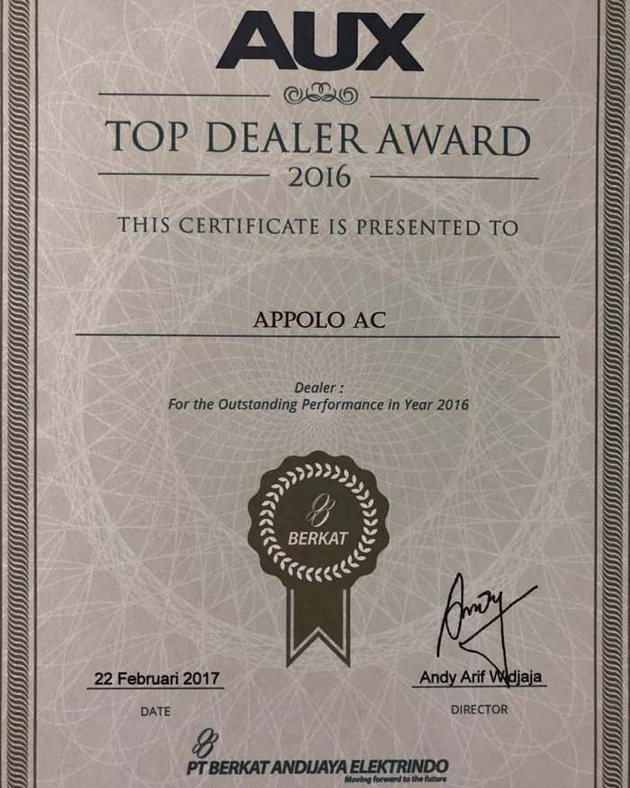Apollo AC Top Dealer for AUX