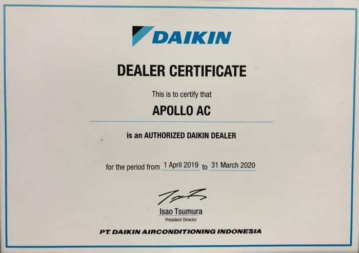Apollo AC is an authorized Daikin Dealer