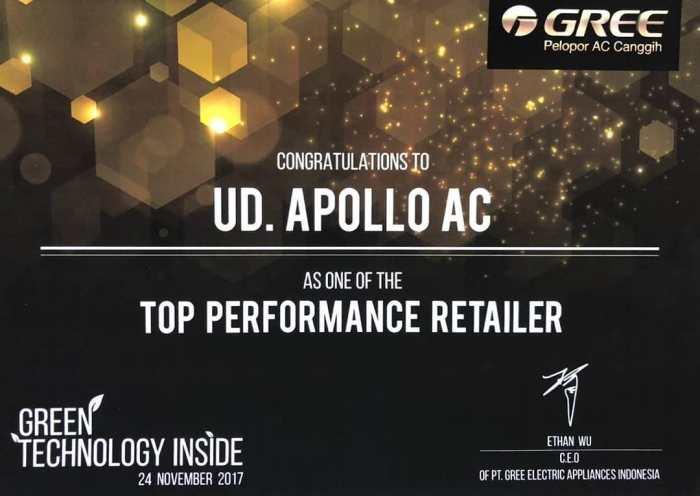 Apollo AC as One of The Top Performance Retailer