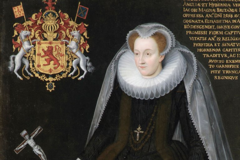 The Blairs Memorial Portrait of Mary, Queen of Scots (early 17th century), Flemish, unknown artist. Blairs Museum, Aberdeen (Blairs Museum Trust)