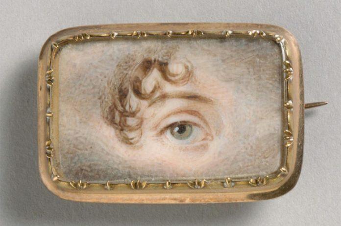 Retrato de un ojo izquierdo (c. 1800), Inglaterra.  Museo de Arte de Filadelfia