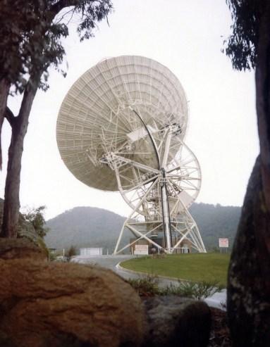 Telescope dish at Honeysuckle Creek in 1969