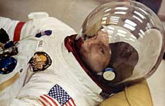 Jim Lovell suited up on launch day, April 11th 1970