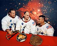 The original Apollo 13 crew. From left: Lovell, Mattingly, Haise