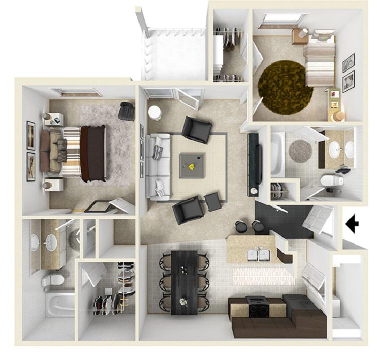 1, 2, 3, 4 bedroom apartments for rent in baton rouge, la