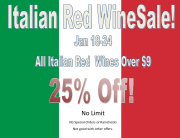 Italian Red Wine Sale