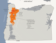 Oregon Pinot Noir Map