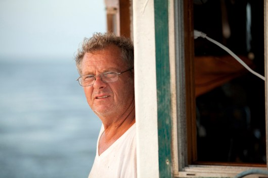 Kenneth Theriot's family has been shrimping for generations.