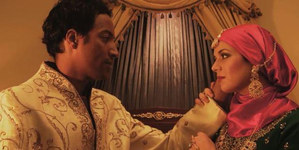 বাসর রাতের গল্পে ইসলামিক স্বামী ও স্ত্রীর ছবি