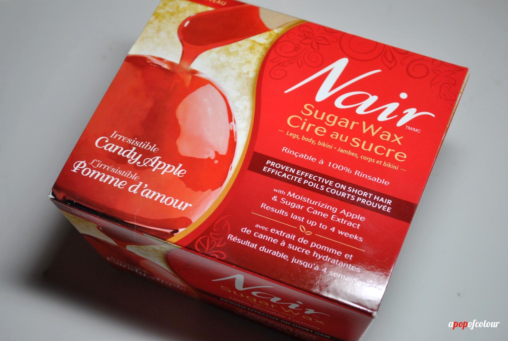 Sweet & smooth: Nair Candy Apple Sugar Wax - A Pop of Colour