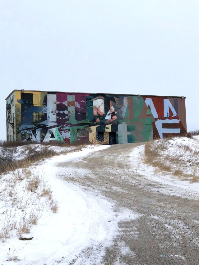 mural in Churchill, Manitoba