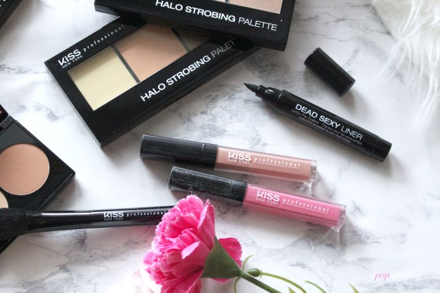 Kiss Professional makeup lip products and Halo Strobing palettes