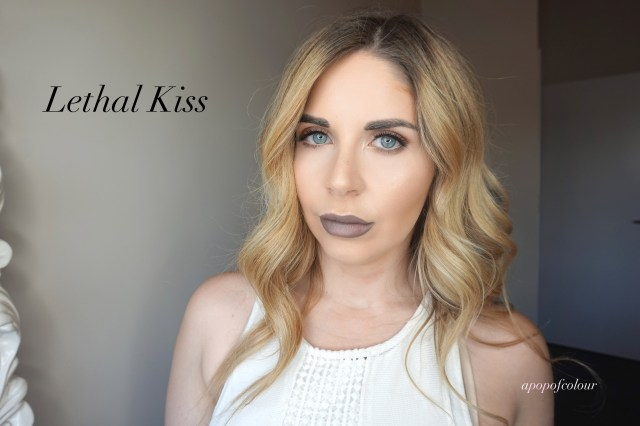 Rimmel London Stay Matte Liquid Liquid Colour swatch in Lethal Kiss