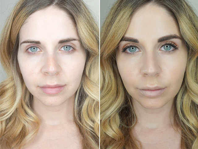 Before and after using IT Cosmetics Your Skin But Better CC Cream