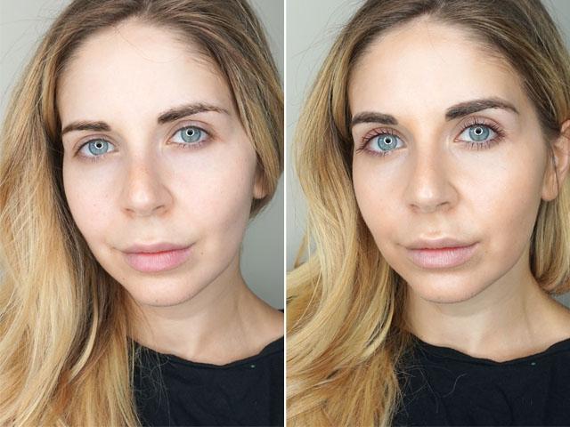 Before and after using Vita Liberata Body Blur Skin-Tone Optimizer