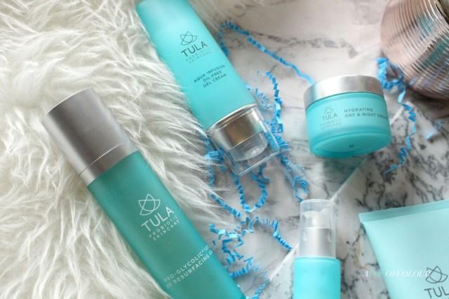 Tula skincare items