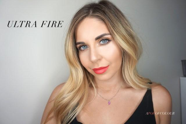 Dior Ultra Rouge lipstick in Ultra Fire