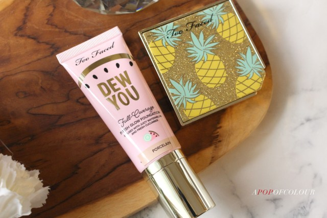 Too Faced Dew You Foundation and Pineapple Paradise Strong Bronzer Highlighter Duo