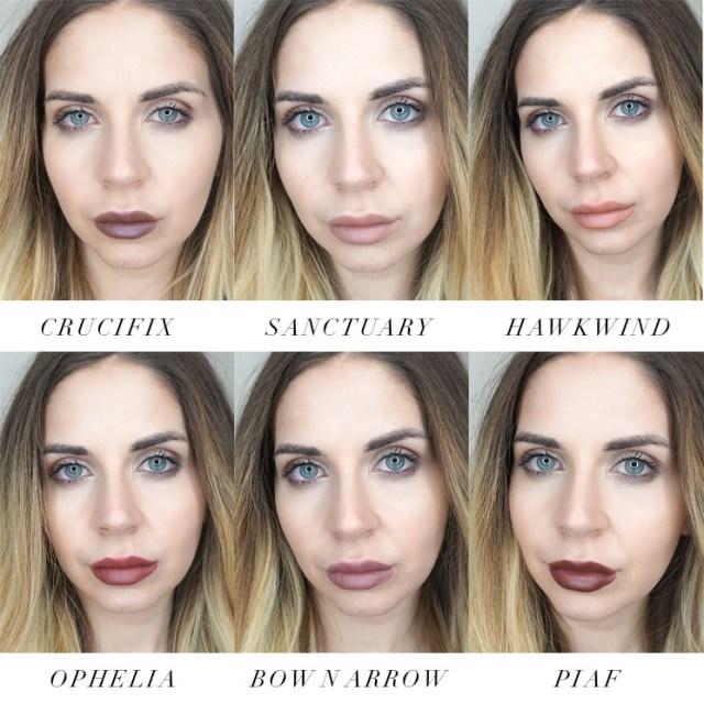 Kat Von D Studded Kiss Lip Creme set swatches