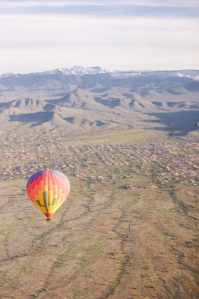 Hot Air Balloon ride with Hot Air Expeditions in Arizona