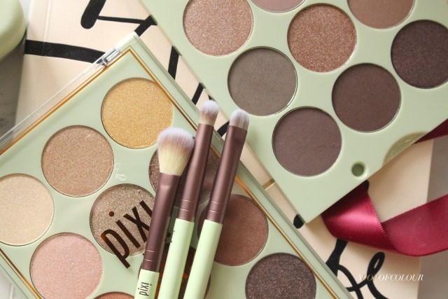 Pixi Beauty Eye Reflections Eyeshadow Palette and brushes