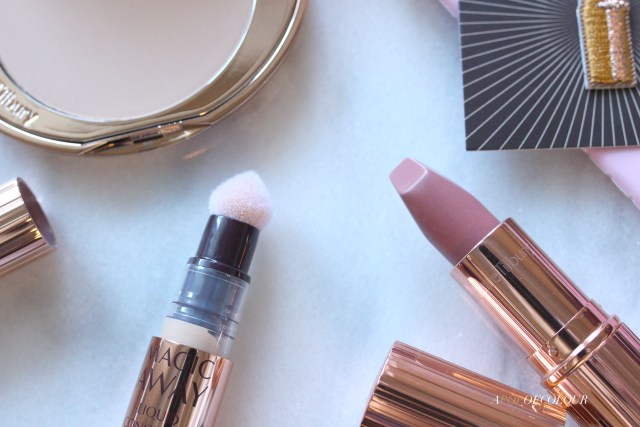 Charlotte Tilbury Matte Revolution lipstick in Pillowtalk and Magic Concealer
