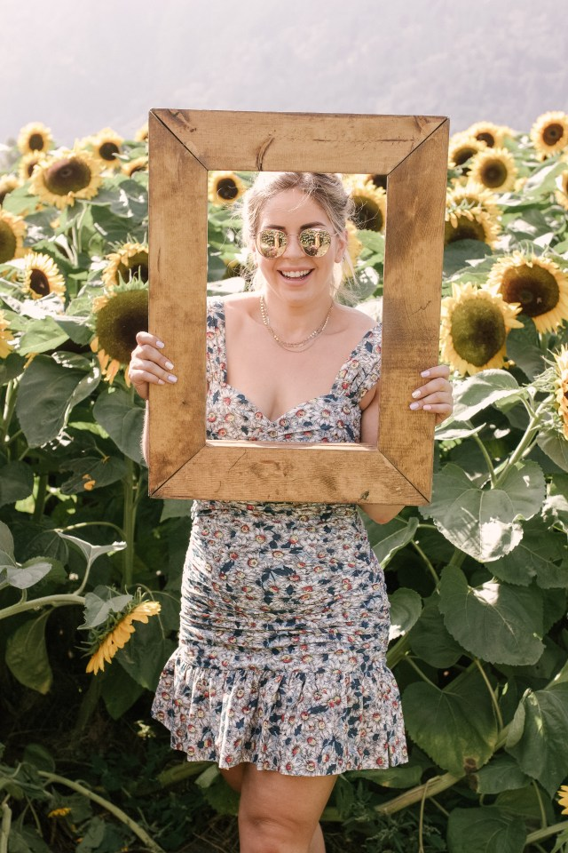 Picture frame at the Chilliwack Sunflower Festival