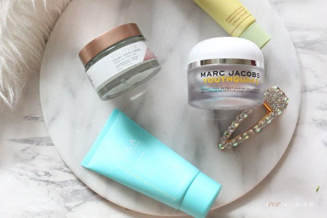 Moisturizers from Tula, Marc Jacobs Beauty, Pixi, and Volition Beauty