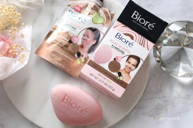 Biore Rose Quartz + Charcoal Face Bar and Clay Mask