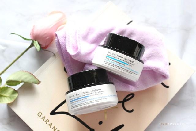 Belif The True Cream Moisturizing Bomb and Aqua Bomb