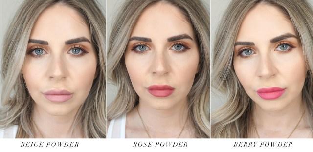 Avon Rouge Powder Matte Lipsticks swatches