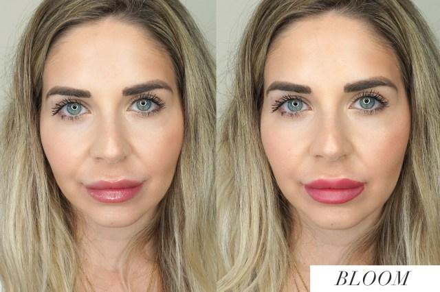 Arbonne Matte + Shine Lip Duo Bloom swatches