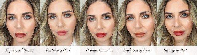 ROUGE PUR COUTURE THE SLIM GLOW MATTE swatches