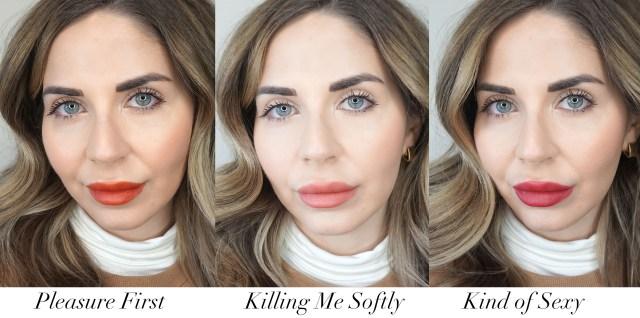 Lancome L'Absolu Rouge Intimatte Matte Lipstick swatches
