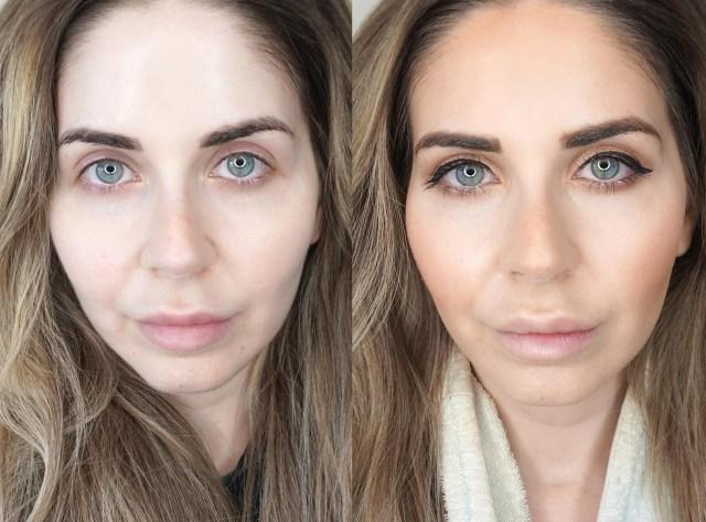 Swatches of Estee Lauder Futurist Hydra Rescue Moisturizing Makeup SPF 45