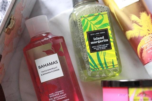 Bath & Body Works Bahamas Body Lotion and Island Margarita hand soap
