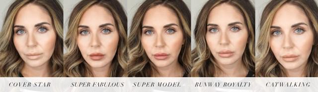 Charlotte Tilbury Super Nudes lipstick swatches