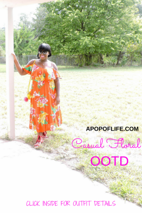 casual floral summer maxi dress - outfit of the day #summerfashion #maxidress #oldnavystyle