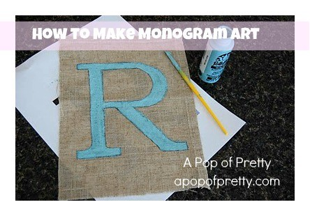 diy monogram art